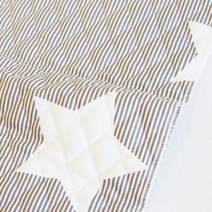 【SALE!】【入園入学セットレシピ】生地・布・入園入学 ≪ Cocoa gray star ≫ キルティング/幅105cm【オリジナル生地】【10cm単位販売】|decollections