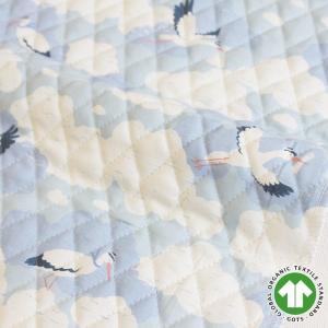 【SALE!】【入園入学セットレシピ】生地・布 ≪ stork ≫ キルティング/幅108cm オーガニック【オリジナル生地】【10cm単位販売】|decollections