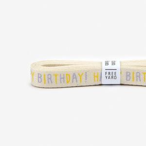 【コットンリボン】 25 Happy birthday 【メール便対応】 decollections