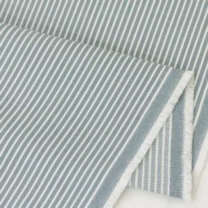 生地・布 ≪ 28 ヒッコリー 水色地×ホワイト ≫ コットン/幅114cm デニム 【10cm単位販売】|decollections