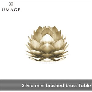 テーブルライト 1灯 UMAGE SILVIA mini brushed brass ウメイ シルヴィア ミニ ブラス VITA ヴィータ 北欧 送料無料 LED電球付※当店限定|decomode