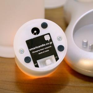 LEDキャンドル 充電式 グラス+キャンドル LEDキャンドル Smart Candle プラチナ4ピース充電キャンドルセット decomode 02