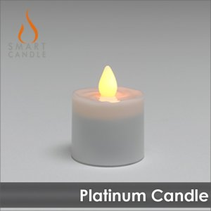 LEDキャンドル 充電式  Smart Candle プラチナ キャンドル 単体|decomode