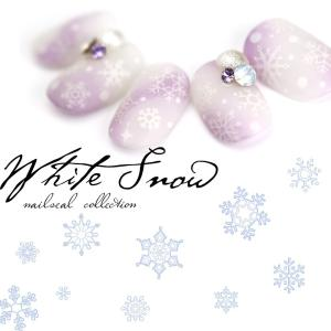 【特徴】 指先に雪が舞い落ちる...〇゜ 『ホワイトスノーシール』が登場☆ 冬ネイルには欠かせない雪...
