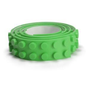 レゴ LEGO デュプロ 互換性 シリコンブロックテープ 2ドット100cm 切れる 曲がるグリーン 緑色|decopartsfactory