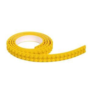 シリコンブロックテープ 切れる 曲がる 貼れる 2ドット テープ ブロック LEGO互換性 イエロー|decopartsfactory