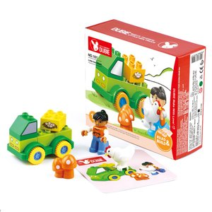 ニワトリさんとトラック ブロック トイセット 男の子 おもちゃ 幼児 互換 lego デュプロ|decopartsfactory