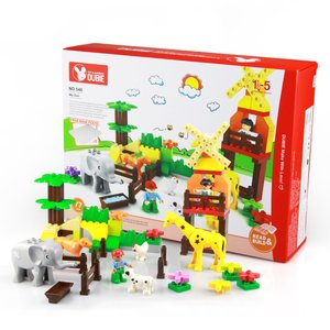 動物園とベースプレート おもちゃ 幼児 互換 lego デュプロ|decopartsfactory