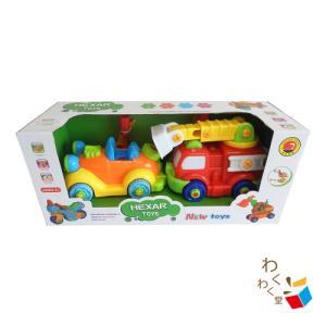 知育玩具  組み立ておもちゃ 消防車 整備師さん 子供 誕生日 プレゼント 男の子|decopartsfactory
