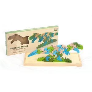 木製パズル 恐竜 ティラノザウルス アルファベット AtoZ 知育玩具 積み木 組み合わせ|decopartsfactory