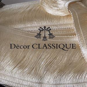 SALE 1/31まで:レーヨンブラッシュフリンジ デコール 11.5cm巾:アイボリー:1m単位:ハンドメイド素材|decor-classique