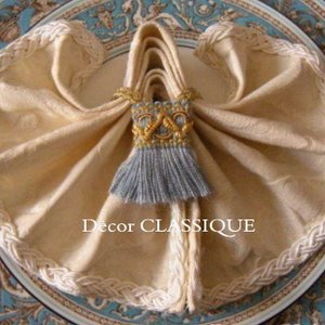 ミニタッセル:ナプキンリングタッセル2個セット:ウエッジウッドブルー&ゴールド:Decor CLASSIQUE decor-classique