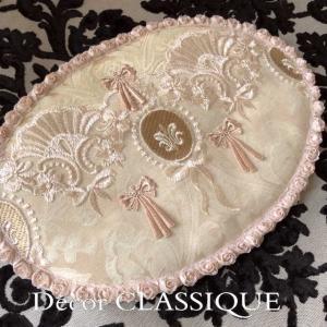 オーバルマット・ティーマット・淑女の扇とフルールドリスボゥ Decor CLASSIQUE|decor-classique