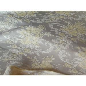 SALE 1/31まで:ヴィンテージフレンチフローラルブロケードファブリック:巾130cm:50cm単位|decor-classique