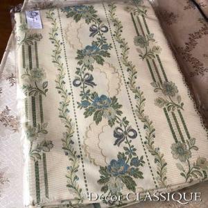 SALE 1/31まで:カットファブリック:フレンチストライプリボン:巾140cm x 長さ1m(カット済み)|decor-classique