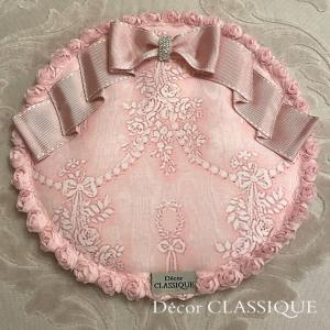 ポットマット・ラウンドマット・カップ&ソーサーマット:ビジューボゥフルール ピンク Decor CLASSIQUE decor-classique