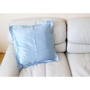 【送料無料】レーヨンクッションカバー1枚 45×45cm ブルー系|decora10
