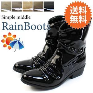 送料無料 ブーツ レディース 低反発 レインシューズ ヒール 防水 カジュアル / 58-775556|decorate
