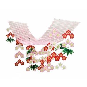 松竹梅プリーツハンガー(1101604)[正月飾り ハンガー 販促グッズ 正月デコレーション] decorationlabo