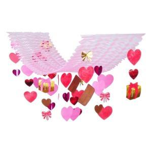 バレンタインチョコプリーツハンガー(1103002)[春飾り バレンタイン ハンガー 販促グッズ]|decorationlabo
