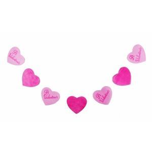 バレンタインハート7連コード(1103005)[春飾り バレンタイン ガーランド 販促グッズ]|decorationlabo