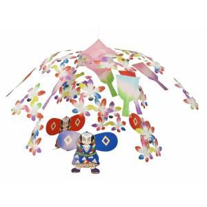 追羽根奴凧2段センター(1113011)[正月飾り ハンガー 販促グッズ 正月デコレーション] decorationlabo