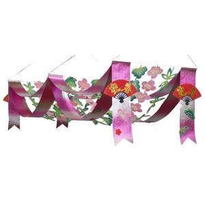 松竹梅2連ペナント(1173062)[正月飾り ペナント 販促グッズ 正月デコレーション] decorationlabo