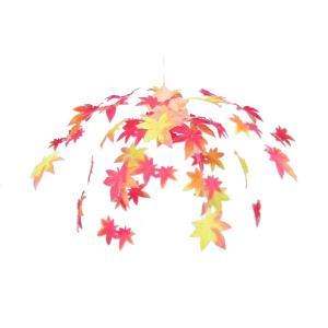 ニューもみじ2段センター(4100753)[秋飾り,秋装飾,シャンデリア,センター,販促グッズ]|decorationlabo