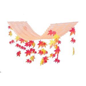 紅葉プリーツハンガー(4100766)[秋飾り,秋装飾,PH,ハンガー,販促グッズ]|decorationlabo