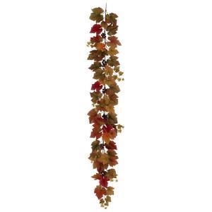 オータムグレープガーランド *78(ワイヤー入)(BRG3014)[グレープ 秋 造花 ガーランド フェイクグリーン 人工観葉植物]|decorationlabo