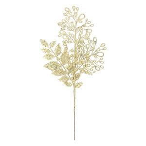 メタリックピーコック/ベリースプレイ(グリッター)(シャンパンゴールド)(BRS5045CHGO)[冬 造花 ベリー フェイクグリーン クリスマス]|decorationlabo