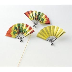 京扇子ピック(松柄)(5本/パック)(DE0324)[お正月 扇子 飾り 装飾] decorationlabo