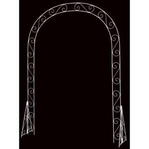 ホワイトガーデンアーチ(DE1202)[ガーデンアーチ メタル 造花 ディスプレイ]|decorationlabo