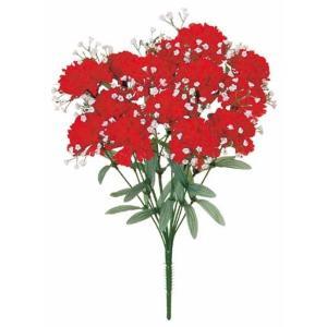 《光触媒》 カスミカーネーションブッシュ *14(レッド)(FLB0876RDHI)[造花 ブッシュ 束 アートフラワー 光触媒]|decorationlabo