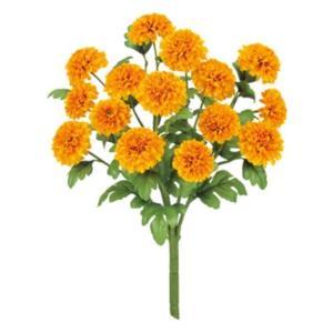 マリーゴールドブッシュ *15(イエローオレンジ)(FLB8064yLOR)[マリーゴールド 造花 ブッシュ 束 アートフラワー]|decorationlabo