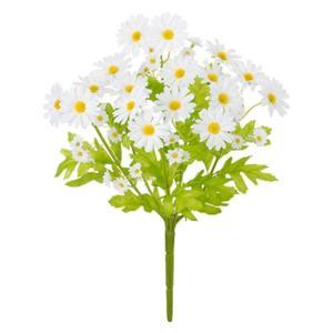 ミニデイジーブッシュ(ホワイト)(FLB8094WH)[ミニデイジー デイジー 造花 ブッシュ 束 アートフラワー]|decorationlabo
