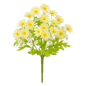 ミニデイジーブッシュ(イエロー)(FLB8094yL)[ミニデイジー デイジー 造花 ブッシュ 束 アートフラワー]|decorationlabo