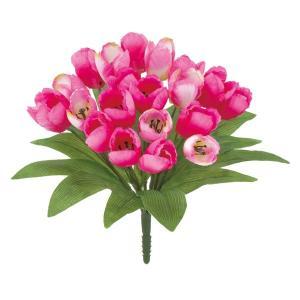 オランダチューリップブッシュ *21(モーブ)(FLB8104MV)[オランダチューリップ チューリップ 造花 ブッシュ 束 アートフラワー]|decorationlabo