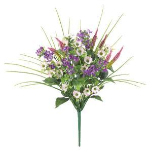 ミックスフラワーブッシュ *12(FLB8105)[ミックス フラワー ミックスフラワー 造花 ブッシュ 束 アートフラワー]|decorationlabo