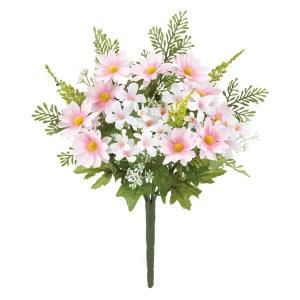 ミックスデイジーブッシュ(ピンク)(FLB8106PK)[ミックスデイジー デイジー 造花 ブッシュ 束 アートフラワー]|decorationlabo
