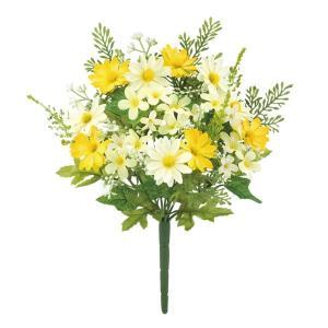 ミックスデイジーブッシュ(イエロー)(FLB8106YL)[ミックスデイジー デイジー 造花 ブッシュ 束 アートフラワー]|decorationlabo