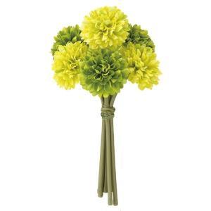 《光触媒》ポンポンマムバンチ(6本束)(グリーンミックス)(FLB8107GRMXHI)[造花 ブッシュ 束 アートフラワー 光触媒]|decorationlabo