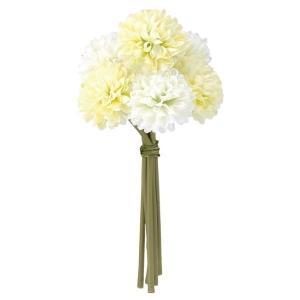 ポンポンマムバンチ(6本束)(ライムグリーンミックス)(FLB8107LIMEMX)[菊 ポンポンマム ポンポン菊 造花 ブッシュ 束 アートフラワー]|decorationlabo