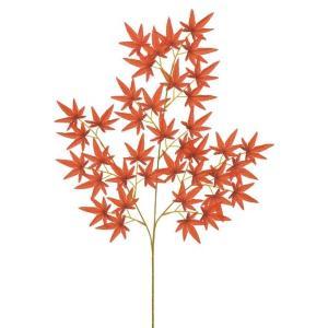 モミジスプレイ(レッド)(LES0679RD)[フェイクグリーン リーフ スプレイ 人工観葉植物 モミジスプレイ もみじ 紅葉 モミジ 紅葉の造花 秋]|decorationlabo