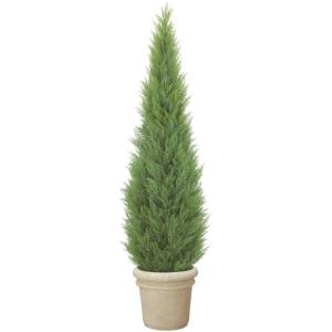 180cmクレストツリー(プラスチック)(自立型・ゴールドクレストのフェイク(人工樹木))《ポット(容器)は別売りです》【屋外対応】|decorationlabo