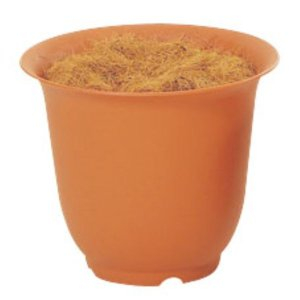 ノアポット 8号(容器のみ)(ブラウン)(N0008)[造花用 ポット 鉢 容器 オアシス ノアポット 8号 ブラウン 茶]|decorationlabo