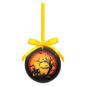75mmハロウィンボール(ホーンテッドハウス)(4ケパック)(ハロウィーン)|decorationlabo