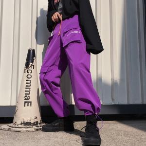ボトムス カーゴパンツ  ロゴ スポーティ ユニセックス ダンス 衣装 韓国 ファッション 大きいサ...