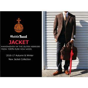 2016-17秋冬モデル 新品 英国 ハリスツイード Harris Tweed ブラウン茶杢グレンチェック風オーダープレイド 2ボタン ジャケット (AB/BB体) NT01-2B|decte