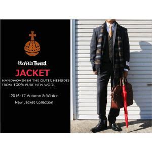 2016-17秋冬モデル 新品 英国 ハリスツイード Harris Tweed ブルーグレー紺灰グレンチェック風オーダープレイド 2ボタン ジャケット (AB/BB体) NT01-2B|decte